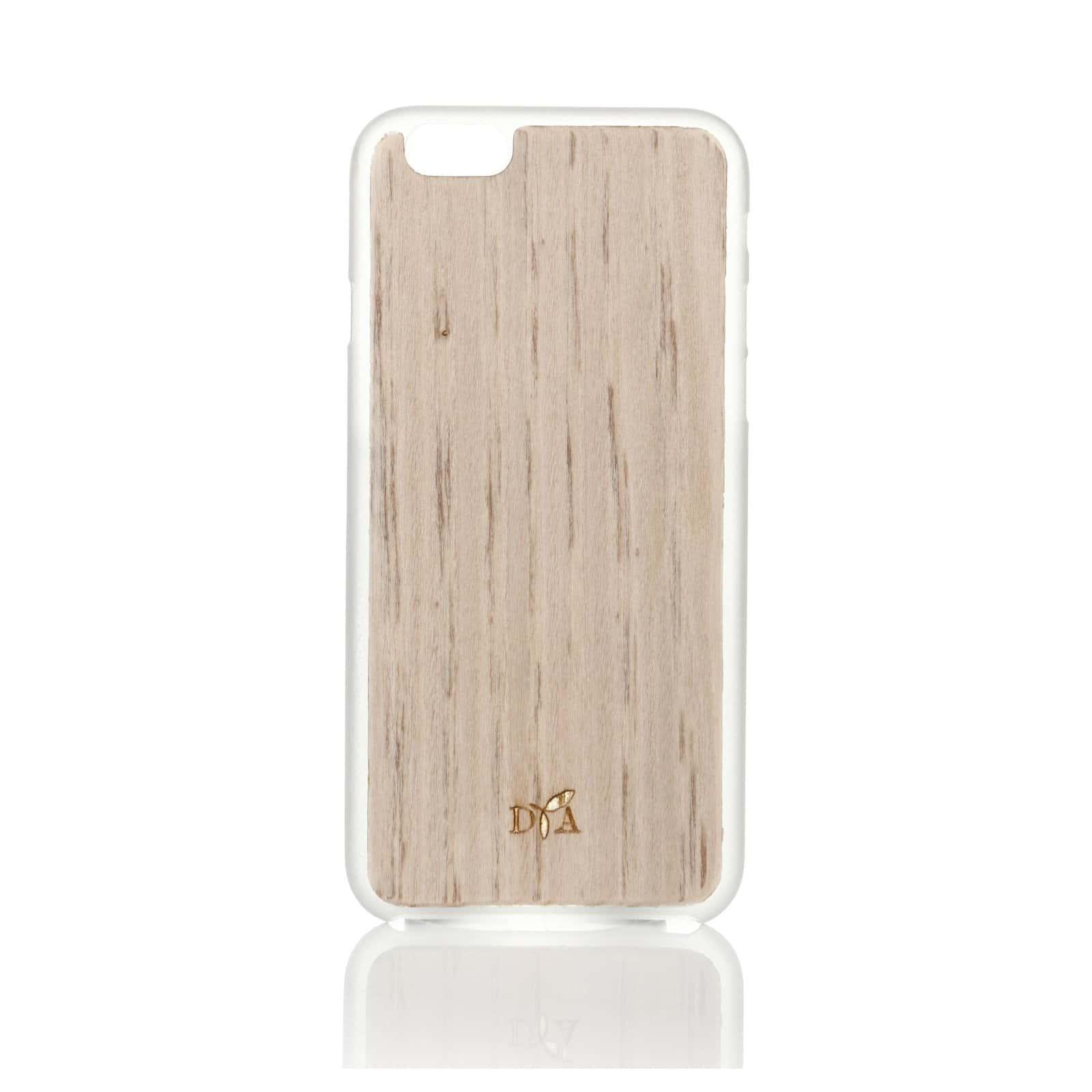 coque en bois d'ébène bord blanc vue de face